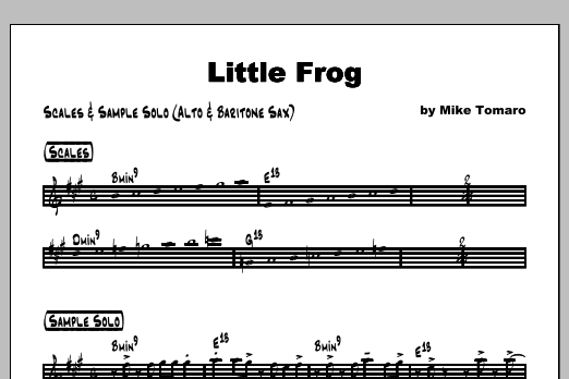 Little Frog - Featured Part Sheet Music