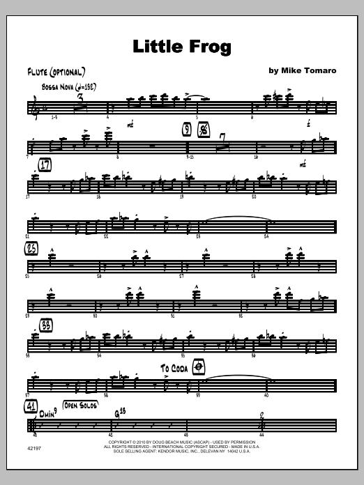 Little Frog - Flute Sheet Music
