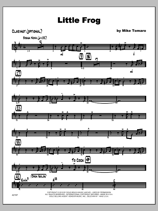 Little Frog - Clarinet Sheet Music
