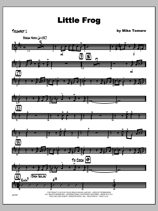 Little Frog - Trumpet 1 Sheet Music