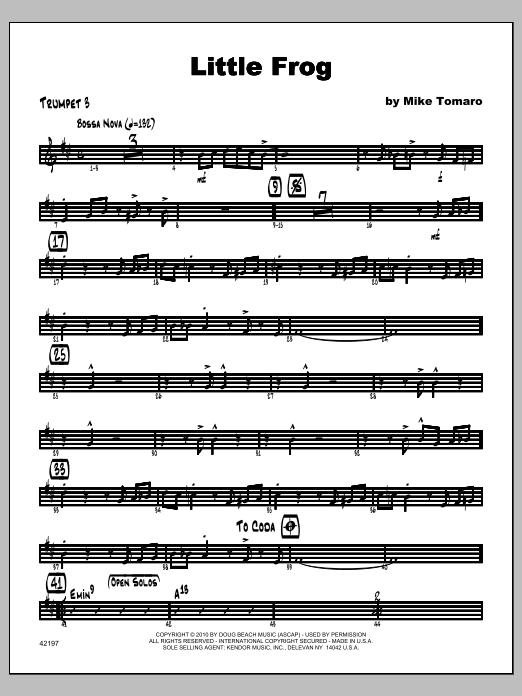 Little Frog - Trumpet 3 Sheet Music