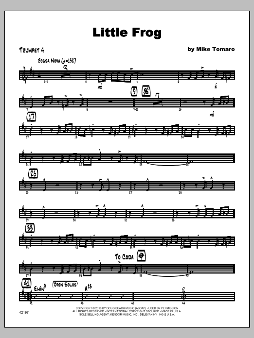 Little Frog - Trumpet 4 Sheet Music