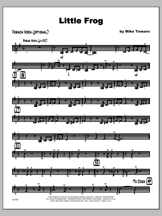 Little Frog - Horn Sheet Music