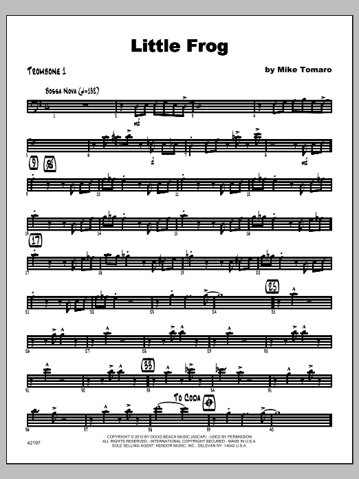 Little Frog - Trombone 1 Sheet Music