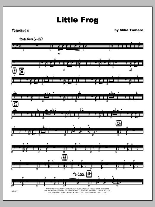 Little Frog - Trombone 4 Sheet Music