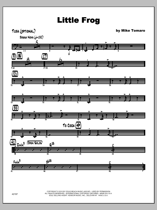 Little Frog - Tuba Sheet Music