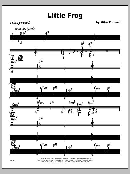 Little Frog - Vibraphone Sheet Music