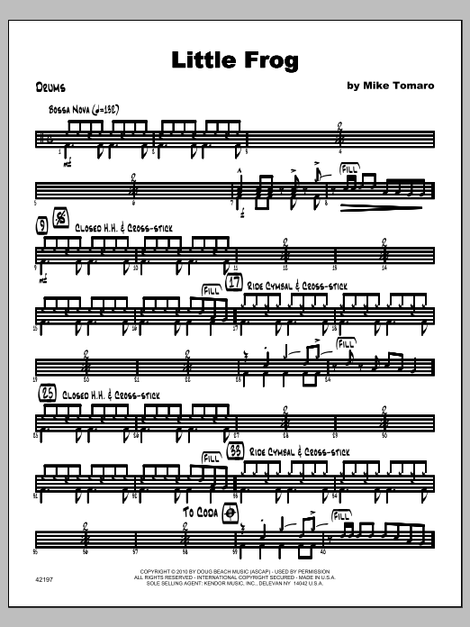 Little Frog - Drums Sheet Music