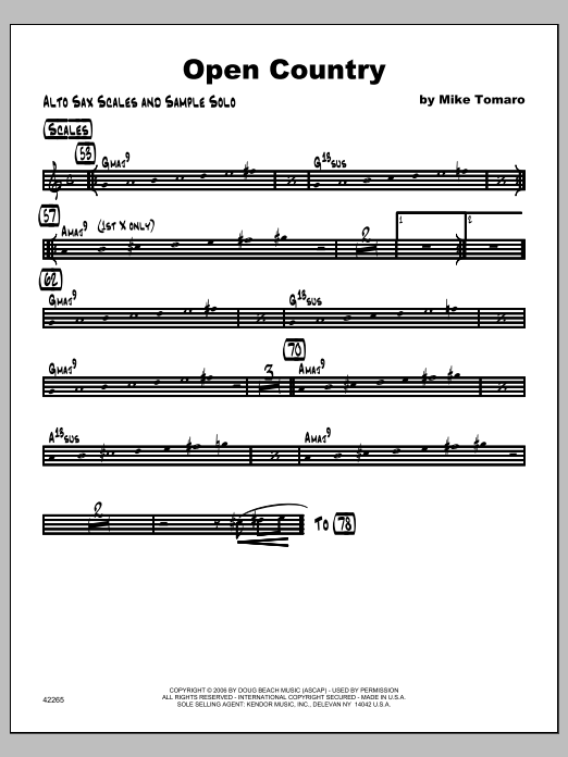 Open Country - Featured Part Sheet Music