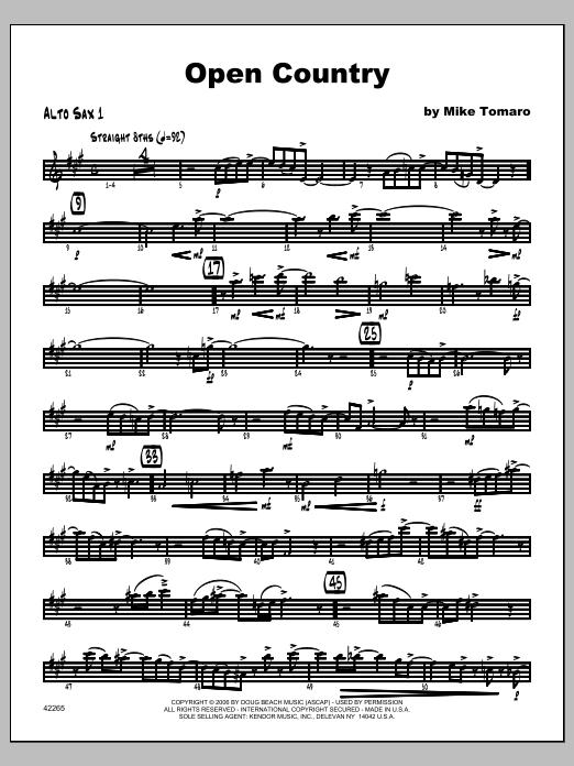 Open Country - Alto Sax 1 Sheet Music
