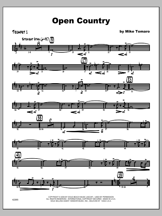 Open Country - Trumpet 1 Sheet Music