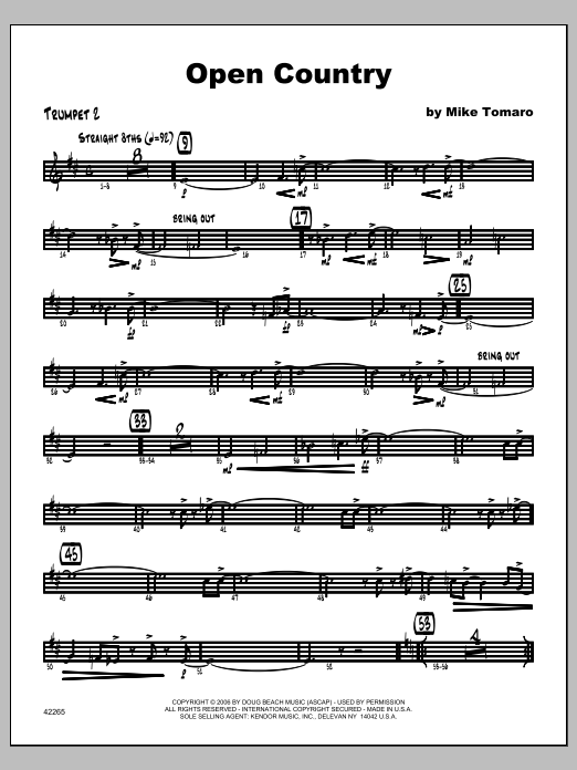Open Country - Trumpet 2 Sheet Music