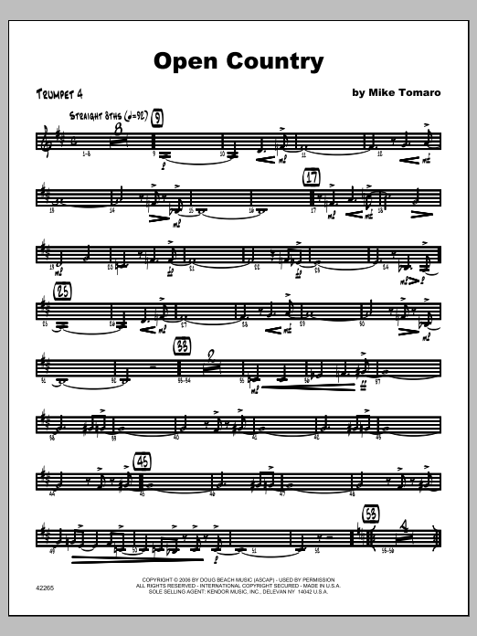 Open Country - Trumpet 4 Sheet Music