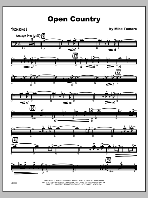 Open Country - Trombone 1 Sheet Music