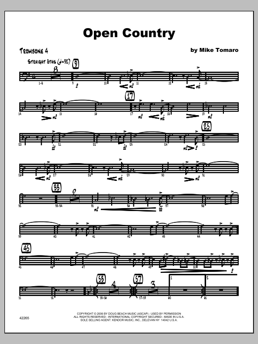 Open Country - Trombone 4 Sheet Music