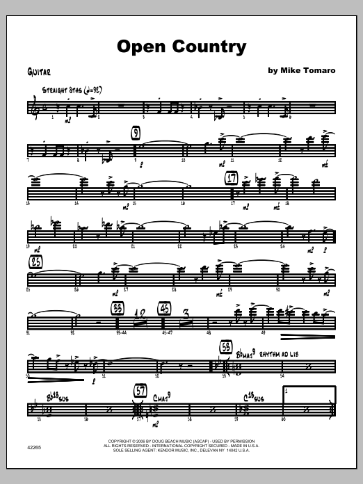 Open Country - Guitar Sheet Music