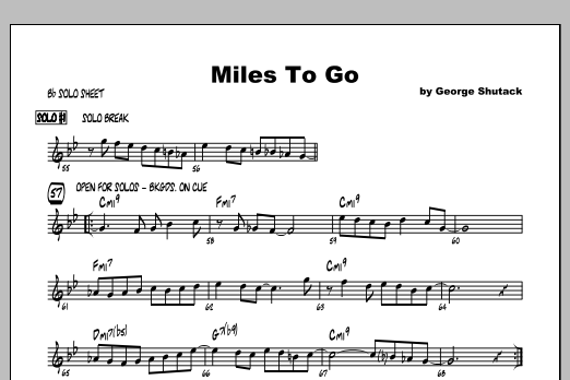 Miles To Go - Featured Part Sheet Music