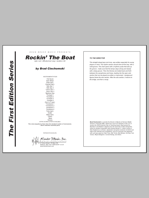Rockin' The Boat (COMPLETE) sheet music for jazz band by Ciechomski. Score Image Preview.