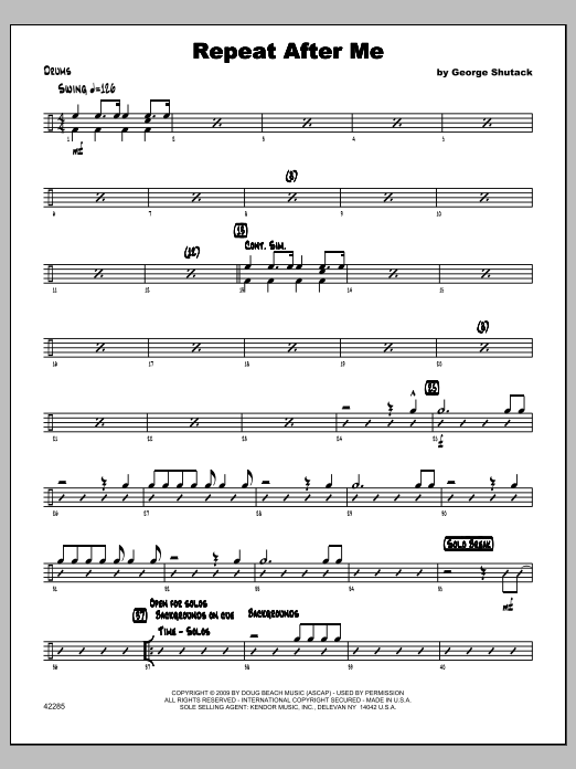 Repeat After Me - Drums Sheet Music
