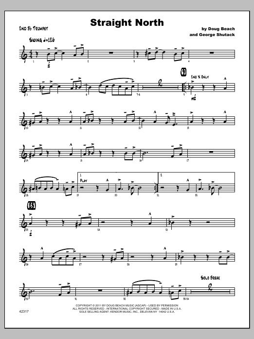 Straight North - Trumpet 2 Sheet Music