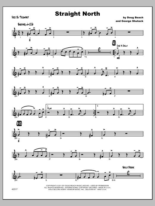 Straight North - Trumpet 3 Sheet Music