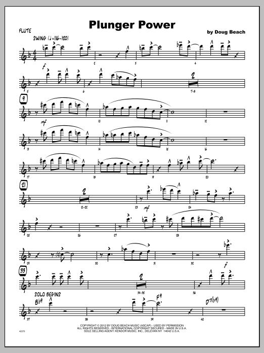 Plunger Power - Flute Sheet Music