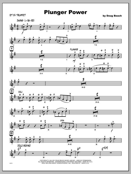 Plunger Power - Trumpet 1 Sheet Music