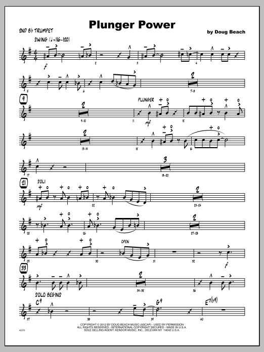 Plunger Power - Trumpet 2 Sheet Music