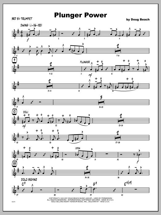 Plunger Power - Trumpet 3 Sheet Music
