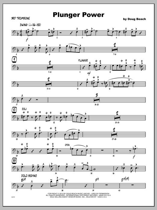 Plunger Power - Trombone 3 Sheet Music