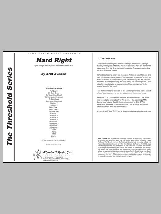 Hard Right - Full Score Sheet Music