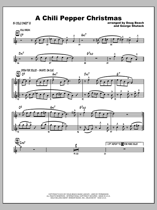 Chili Pepper Christmas, A - Featured Part Sheet Music