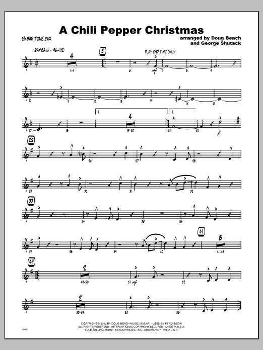Chili Pepper Christmas, A - Baritone Sax Sheet Music