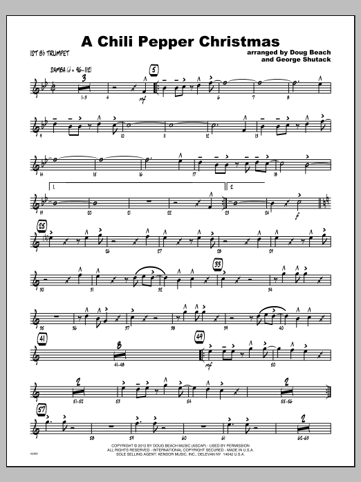 Chili Pepper Christmas, A - Trumpet 1 Sheet Music