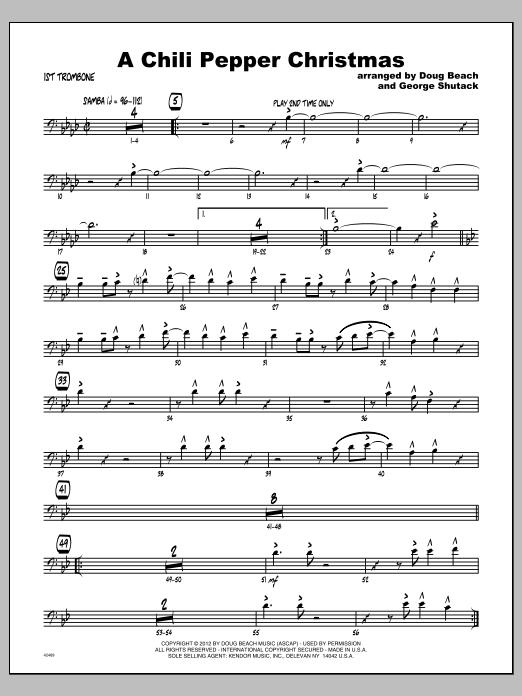 Chili Pepper Christmas, A - Trombone 1 Sheet Music