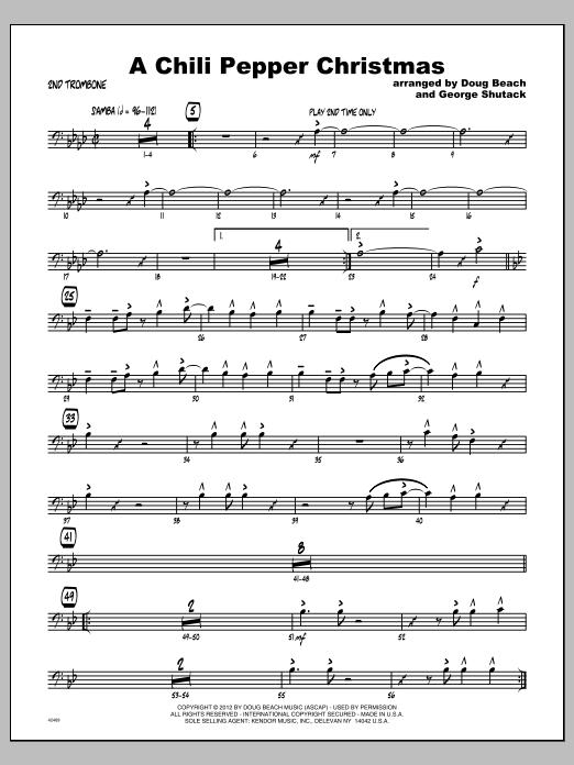 Chili Pepper Christmas, A - Trombone 2 Sheet Music