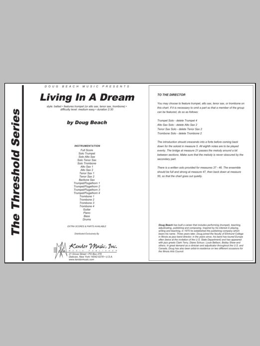 Living In A Dream - Full Score Sheet Music
