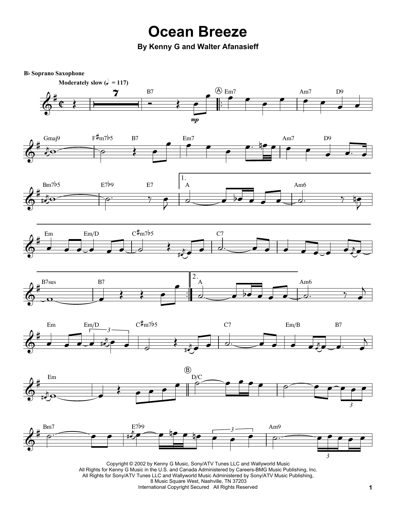 Ocean Breeze Sheet Music