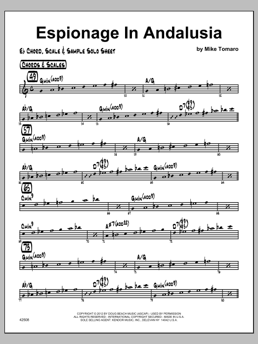 Espionage In Andalusia - Featured Part Sheet Music