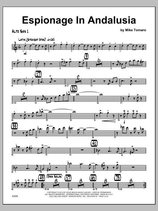 Espionage In Andalusia - Alto Sax 1 Sheet Music