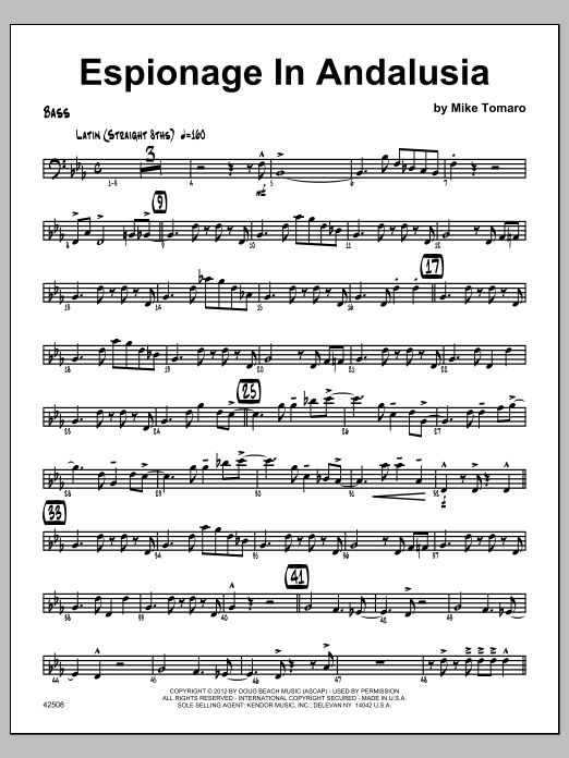 Espionage In Andalusia - Bass Sheet Music