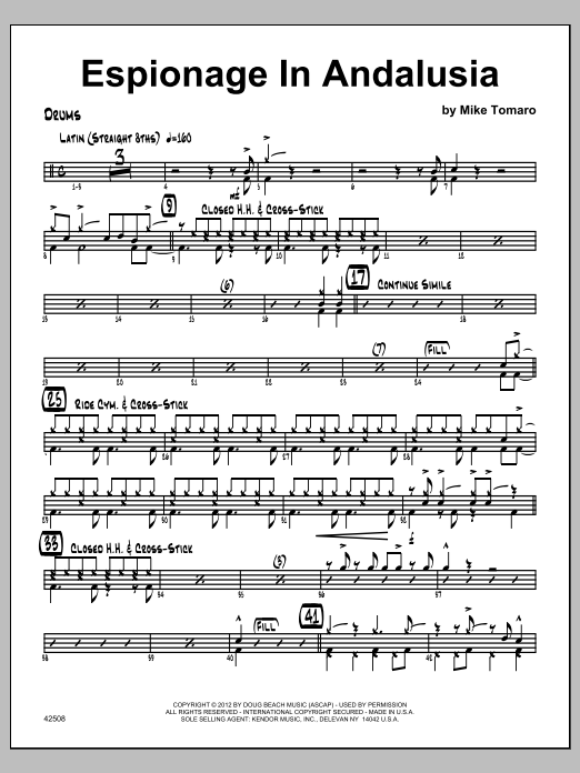 Espionage In Andalusia - Drums Sheet Music