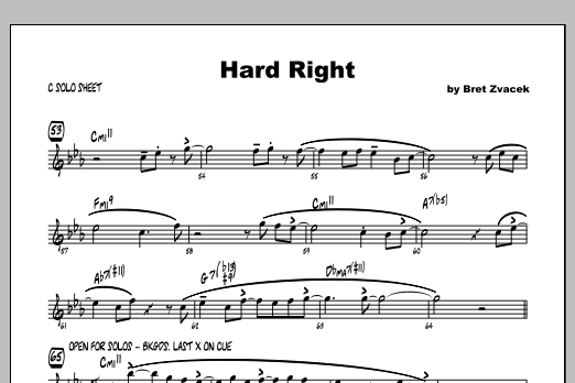 Hard Right - Featured Part Partituras Digitales