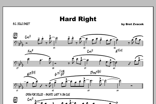 Hard Right - Featured Part Sheet Music