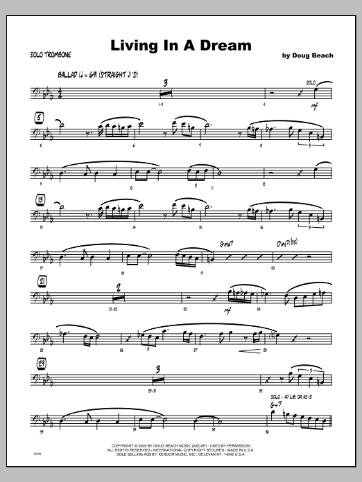 Living In A Dream - Featured Part Sheet Music