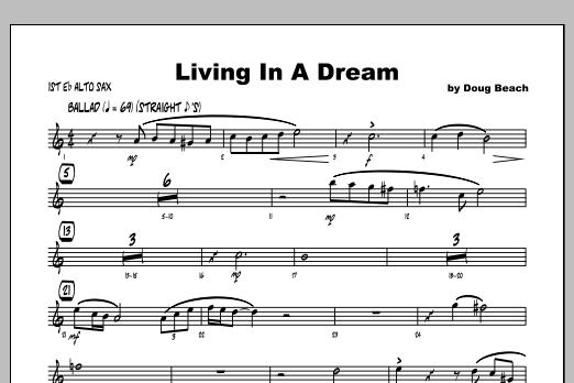 Living In A Dream - Alto Sax 1 Sheet Music