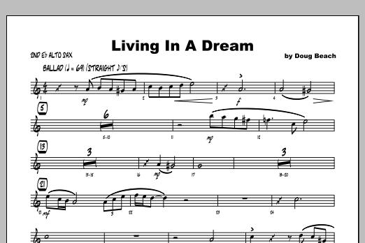 Living In A Dream - Alto Sax 2 Sheet Music