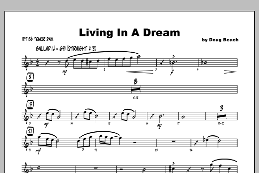 Living In A Dream - Tenor Sax 1 Sheet Music