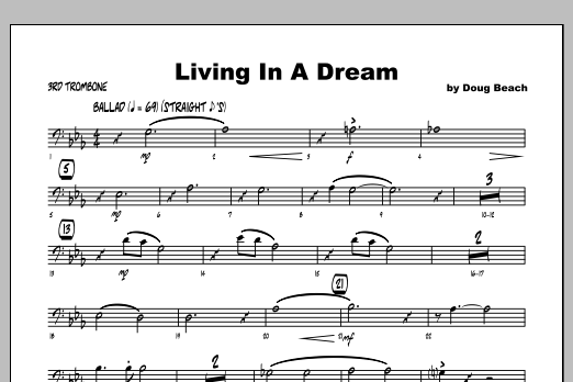 Living In A Dream - Trombone 3 Sheet Music