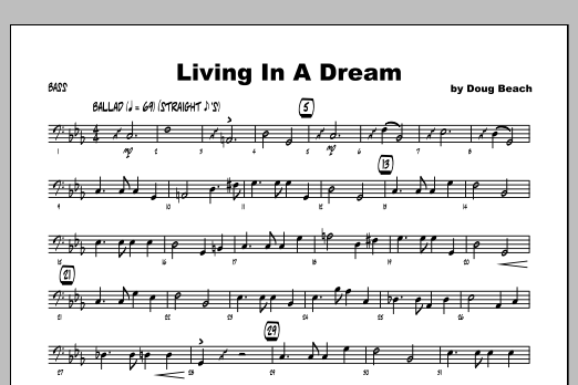Living In A Dream - Bass Partition Digitale